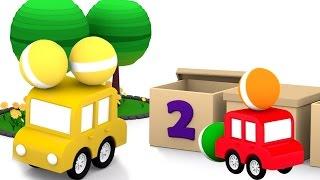 Развивающие 3D мультики. 4 МАШИНКИ учимся считать! Мультфильмы для детей.