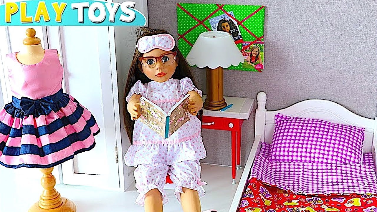 Baby Doll Evening Morning Routine Play Doll Bedroom