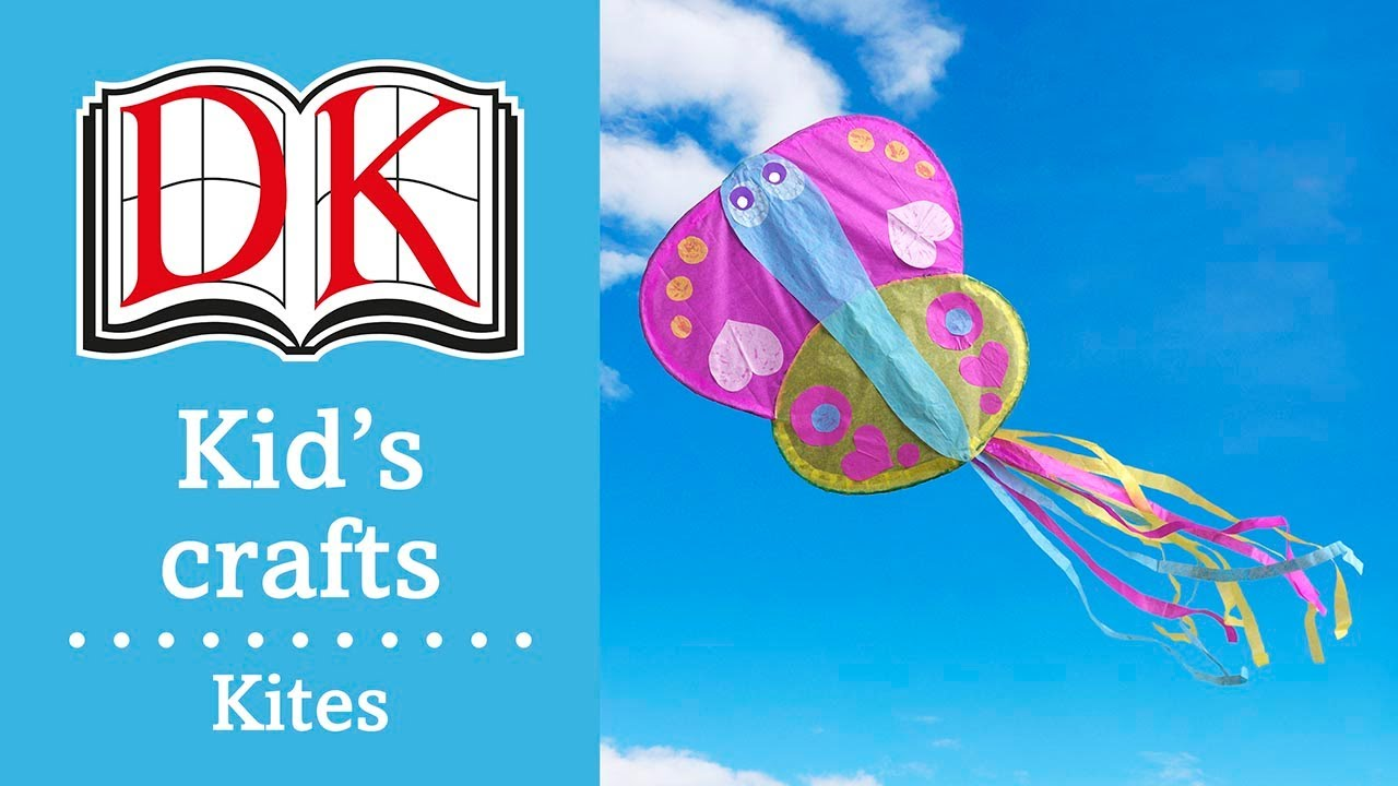 Fun Kids Craft How To Make A Simple Paper Kite Youtube