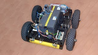 4WD Arduino Robot Vehicle Outdoor 24 VDC Motor Control