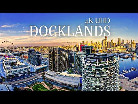 Melbourne Docklands 4K UHD Cinematic Film by Drone, Melbourne Australia 4K🇦🇺