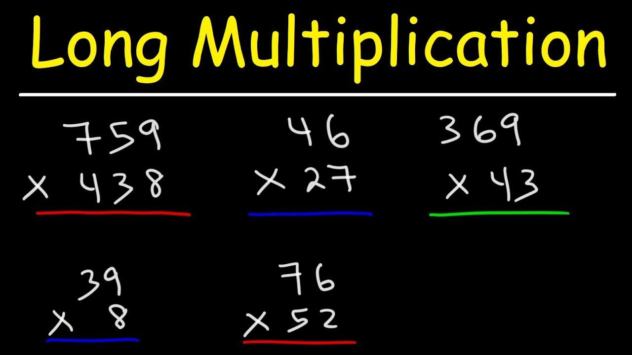 Download Math - Long Multiplication