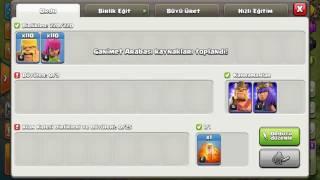 Clash of clans saldırı 4 parmak taktiği