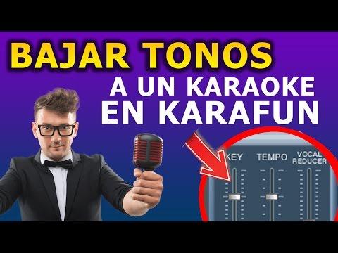 Bajar y/o subir TONO a un karaoke - Karafun Player PC / I PARTE