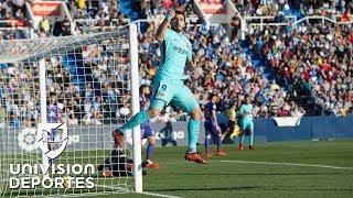Barcelona golea de la mano de Luis Suárez
