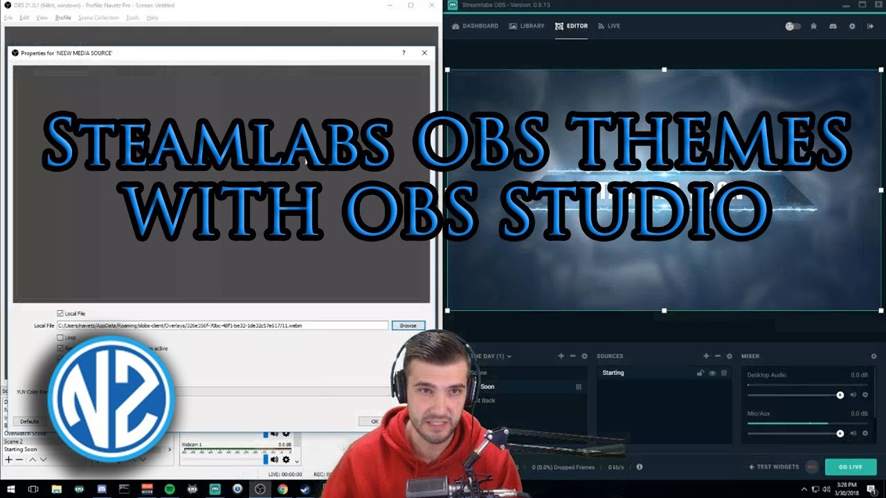 How To Use StreamLabs OBS Themes in OBS Studio