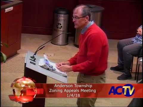 Anderson Township Zoning Appeals Meeting 1/04/18