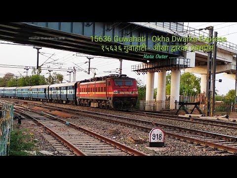 15636 Guwahati - Okha Dwarka Weekly Express, Cruising through outer Kota Jn.