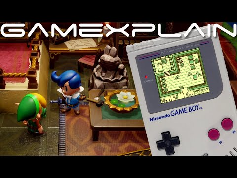 New Zelda: Link's Awakening Remake Gameplay Clips! + Switch vs Game Boy Comparison & Changes