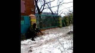 Кадры уличного боя в Дебальцево