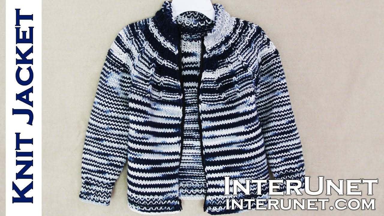 0ba59aa49 Jacket knitting pattern - knit a jacket for a child - YouTube