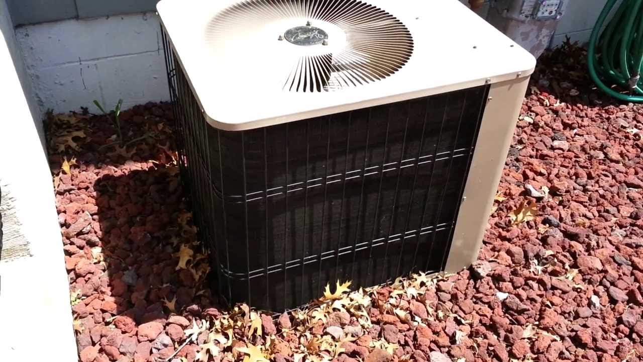 2 Ton Air Conditioner >> 1996 Armstrong Concept 10 Condenser Operating On 85 Degree Day - YouTube