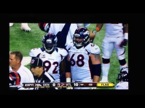 Asante Samuel trying to pick a fight with Zane Beadles 09/17/2012