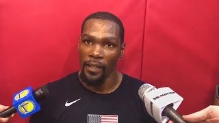Kevin Durant SHUTS UP Reporter Who Says He's Upset Over CJ McCollum Beef and Responds!