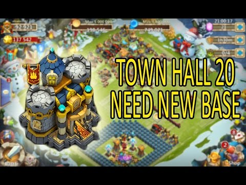 Castle Clash Town Hall 20 New Base Ideas