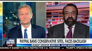 Robert Spencer on Fox and Friends on PayPal's jihad against foes of jihad