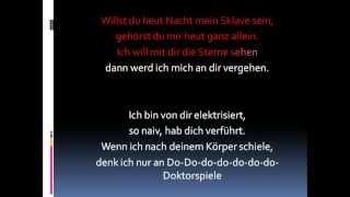 Alex C. Feat. Yass - Doktorspiele (Lyrics)