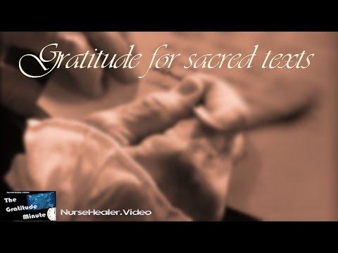 Gratitude Minute: Sacred Texts