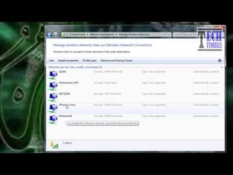 how to find the password (network security key) of remembered wifi networks inside windows 7