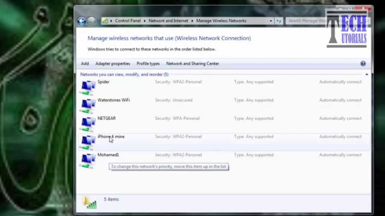 Wireless Security Stopped Windows 7