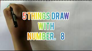 Drawing with number 8// for kids //
