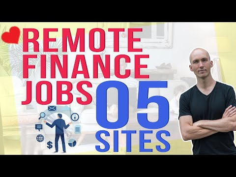 5 Sites in Under 5 Minutes with Remote Finance Jobs | Remote Jobs in Finance