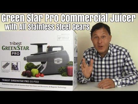 Green Star Pro Commercial Juicer with All Stainless Steel Ge