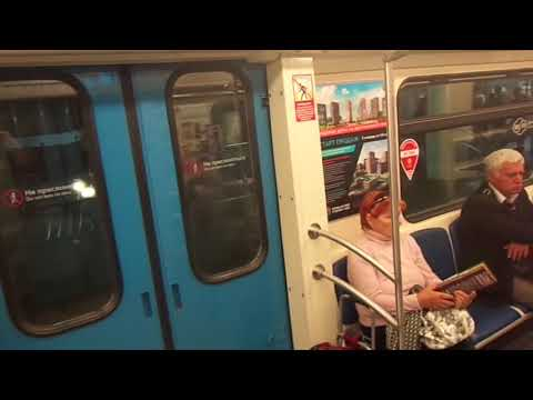 "Moscow Metro Line 3: Metrowagonmash 81-760/761 ""Oka"" train"