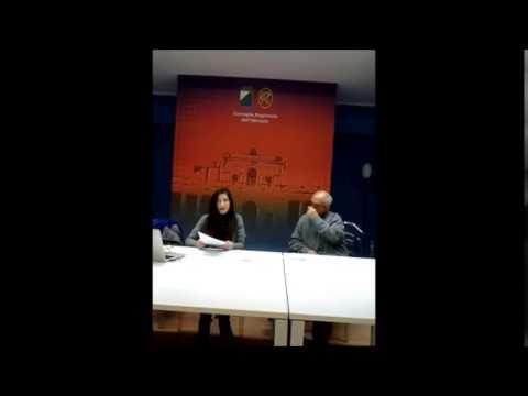 Conferenza Stampa 20 Febbraio 2015  Enza Blundo Senato5Stelle e Antonio Perrotti Ass.TerrePubbliche