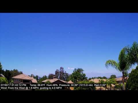 Chino Hills Time-Lapse 7/30/17