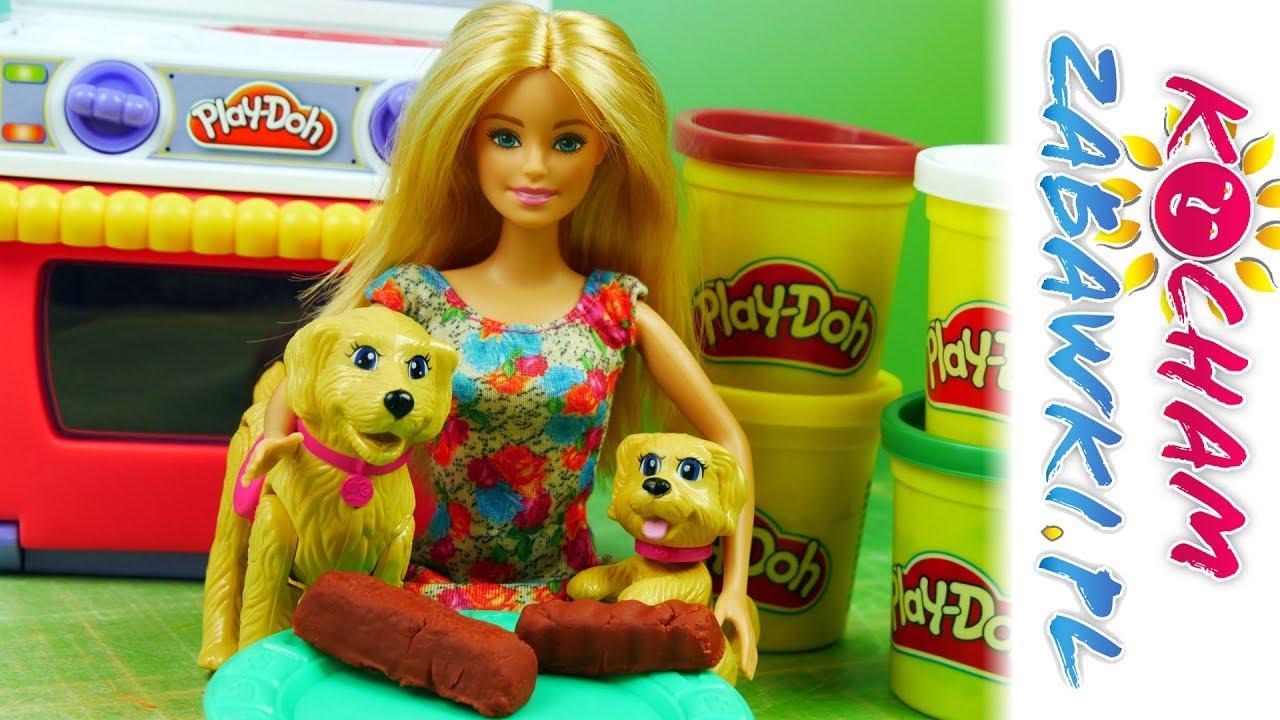 Barbie Gotowanie Dla Pieskow Play Doh Kuchnia Bajki Po Polsku