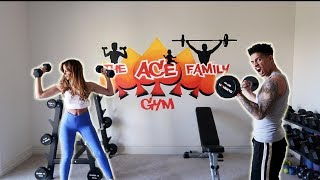 REVEALING OUR NEW PERSONAL GYM!!! (OUR SECRET PROJECT)