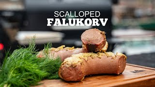 Swedish Scalloped Falukorv Sausage
