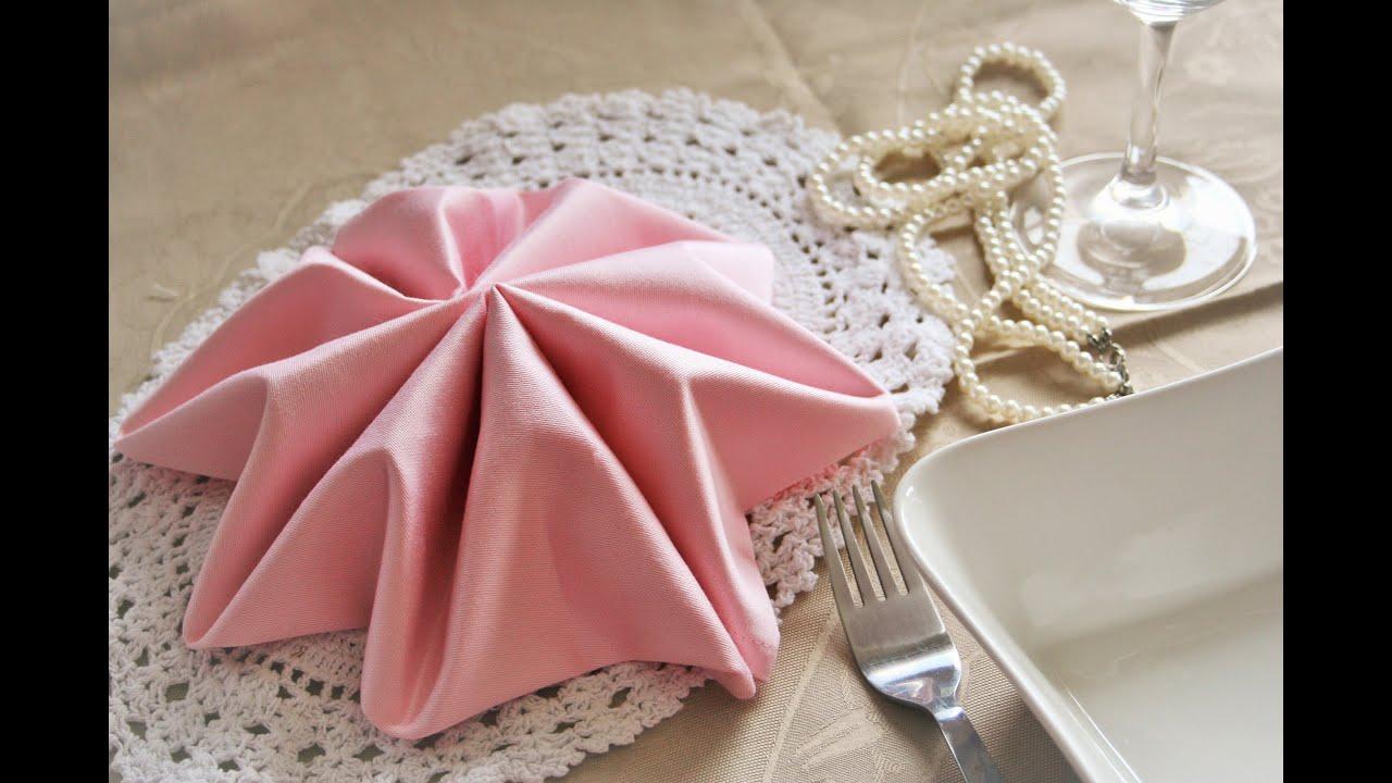 Napkin folding instructions for the pyramid napkin fold - Napkin Folding Star Youtube Salsuba Images