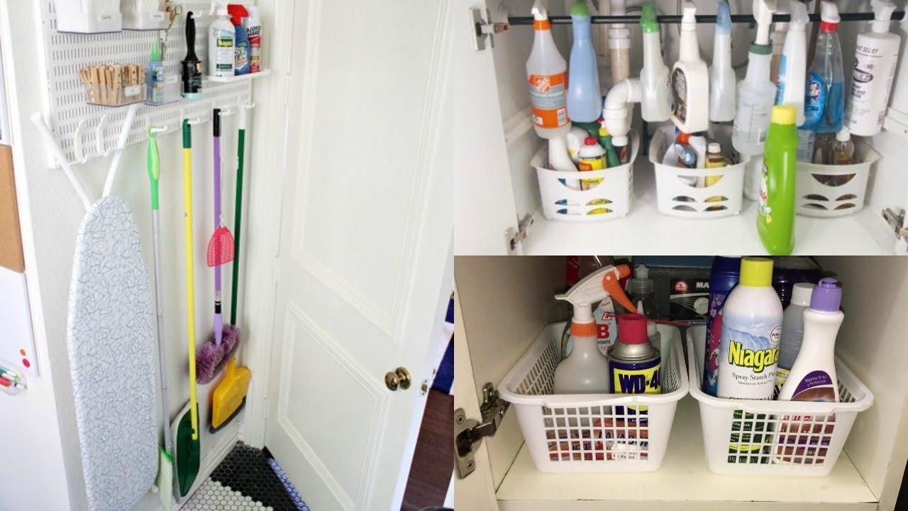 Ideas para organizar los productos de limpieza youtube - Organizadores hogar ...