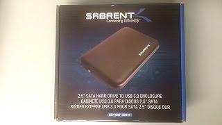 Sabrent 2.5 Inch Hard Drive Enclosure Unboxing