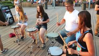 DrumSchool в Парке Горького 12.08.14 Обучение игре на барабанах.