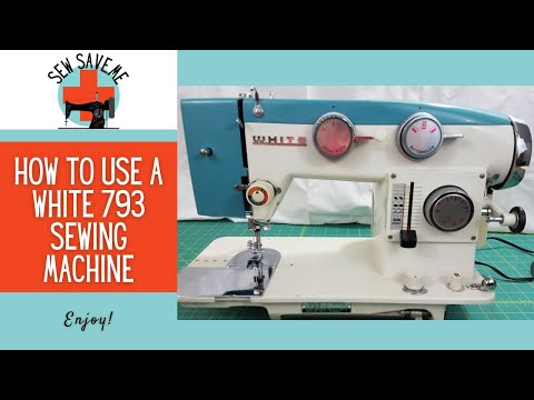 SOLD - White 783 Selectronic Vintage Sewing Machine