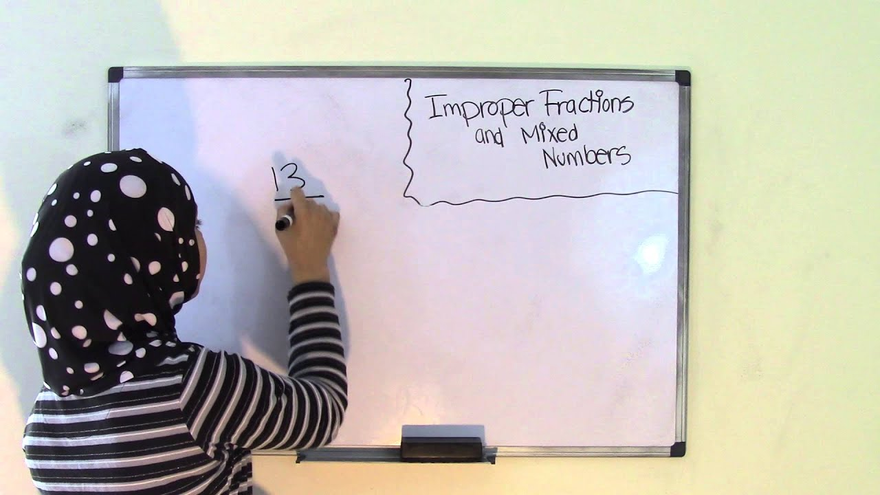 Improper Fractions and Mixed Numbers - 6th Grade Math - YouTube