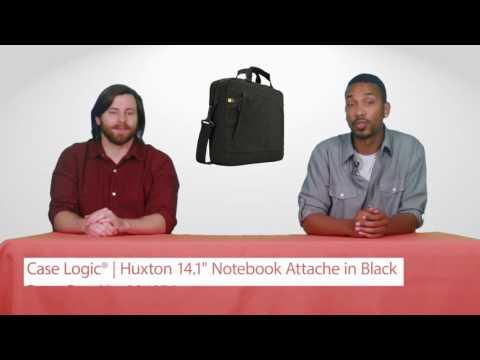 "Case Logic® HUXA114 BLACK Huxton 14.1"" Notebook Attache in Black"