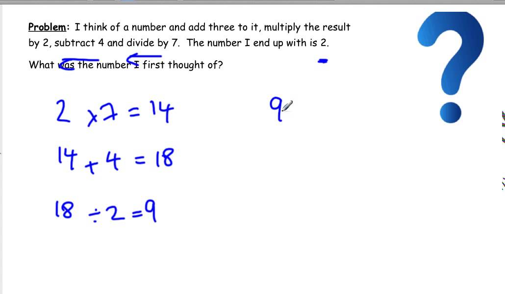 maths problem solving strategies working backwards