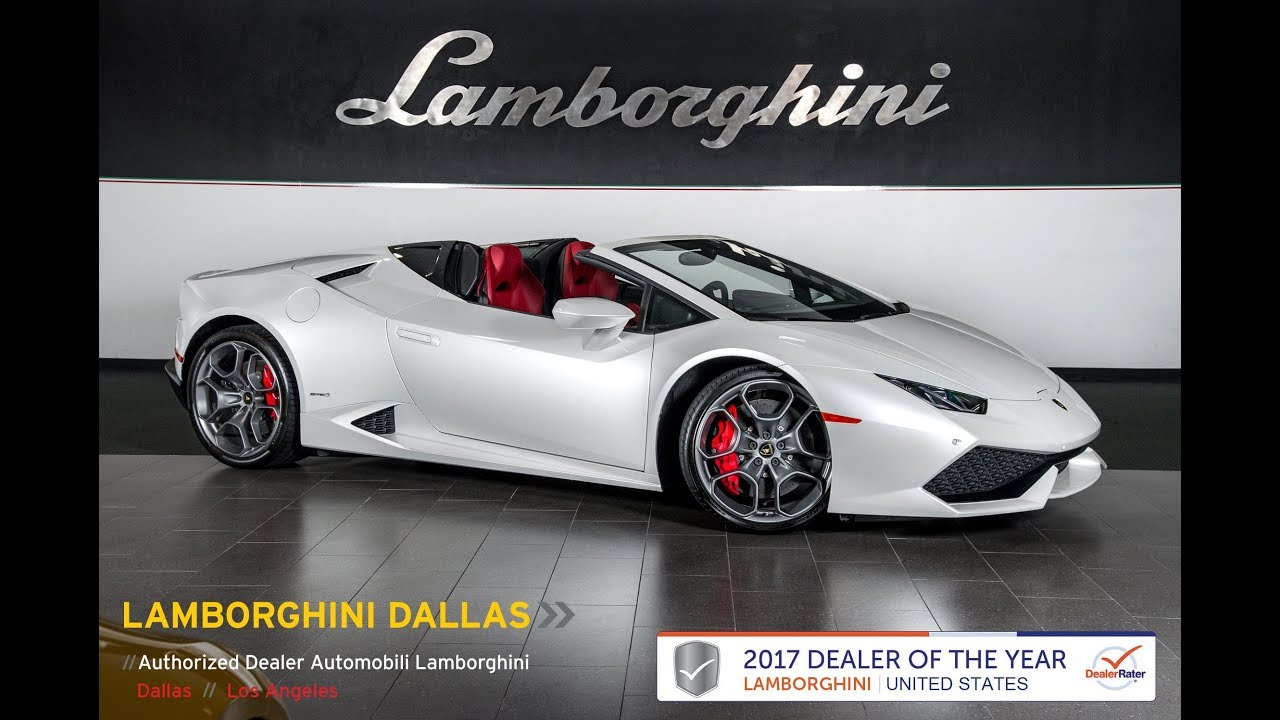 2017 Lamborghini Huracan Lp 610 4 Spyder Balloon White 16l0038 Youtube