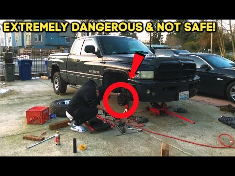 How To Replace Front Axle Shaft U Joints On A Truck Tutorial