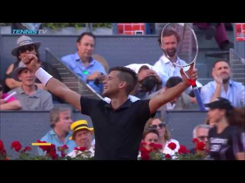 Best shots and rallies as Dominic Thiem beats Rafael Nadal | Mutua Madrid Open 2018 Quarter-Final