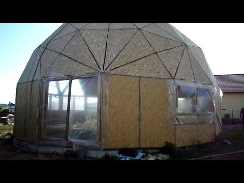 Фундамент на винтовых сваях, под купольный дом в Чебоксарах