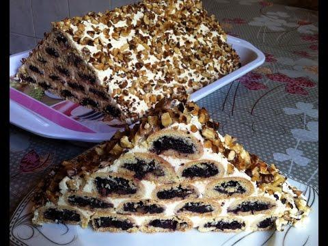 Торт Монастырская Изба(Очень Вкусный и Красивый)/Торт с Вишней/Cherry Cake/Простой Рецепт