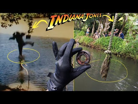 We Searched Underwater Beneath Famous Indiana Jones Rope Swing!