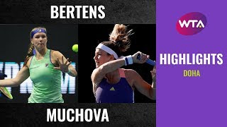 Kiki Bertens Vs. Karolina Muchova | 2020 Doha First Round | Wta Highlights