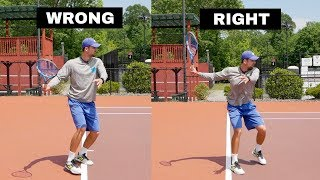 STOP Doing a SHORT BACKSWING! The Truth About The Modern Tennis Forehand