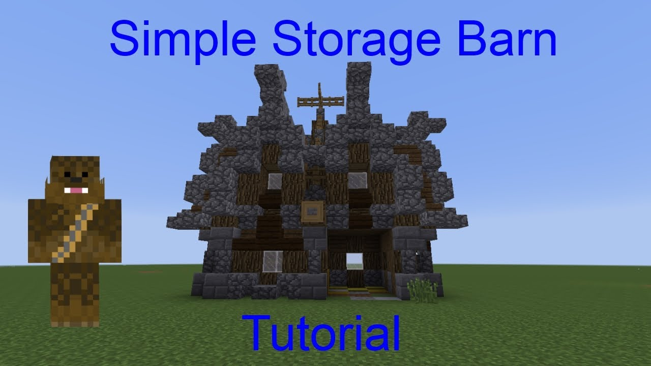 Minecraft Medieval/Nordic Simple Storage Barn Tutorial ...